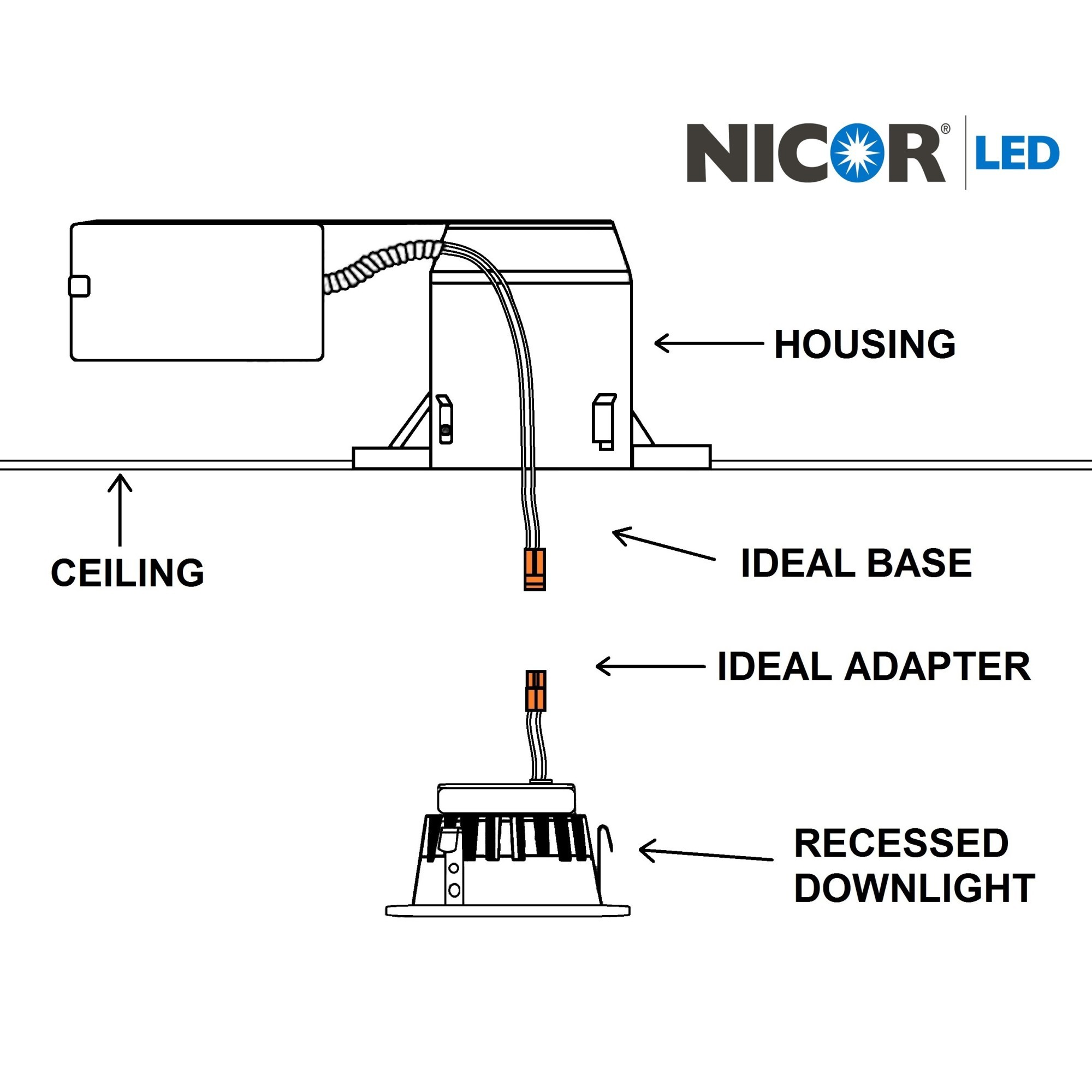 Nicor Dqr2 10 120 3k Nk Bf K 2 Inch Led Square Recessed