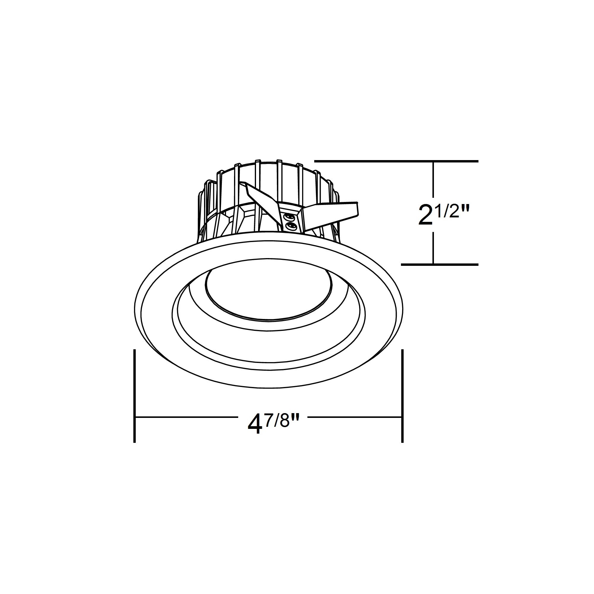 Nicor Dlr4 120 3k Wh K 4 Inch Recessed Led Downligh