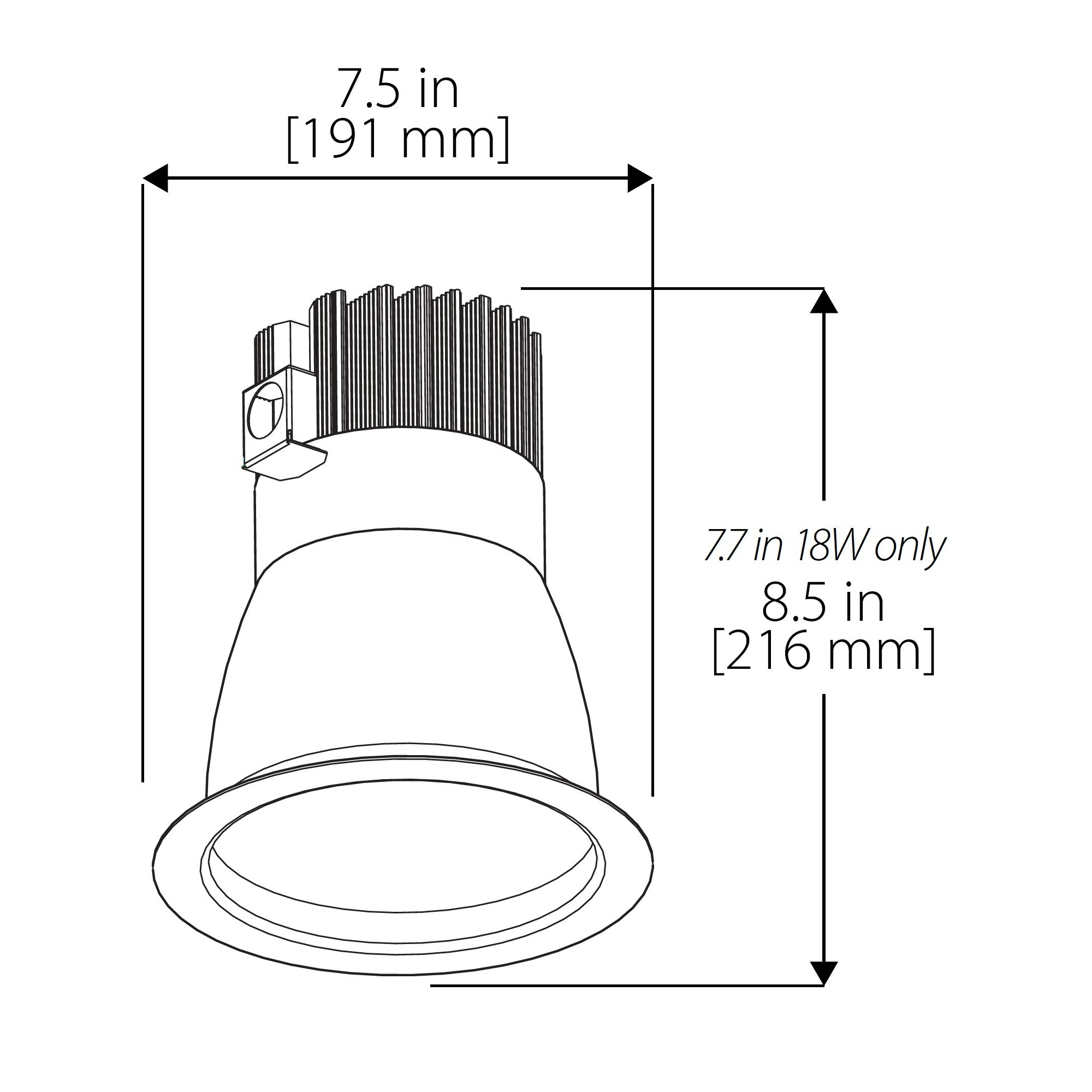 Nicor Cdr6 27w 35k Sn 4 Inch Commercial Led Downlight 14 Wat