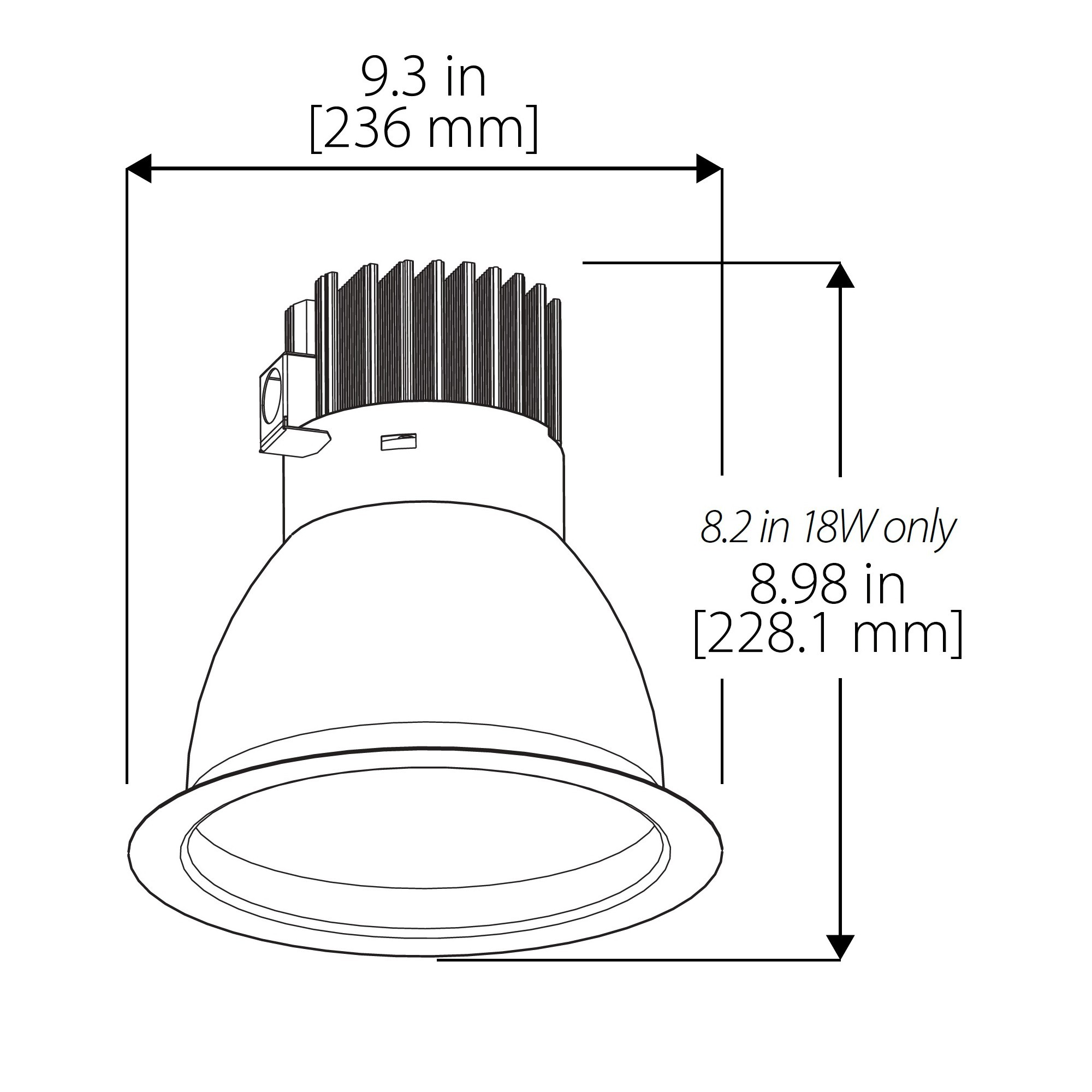 Nicor Cdr8 40w 40k Sn 4 Inch Commercial Led Downlight 14 Wat
