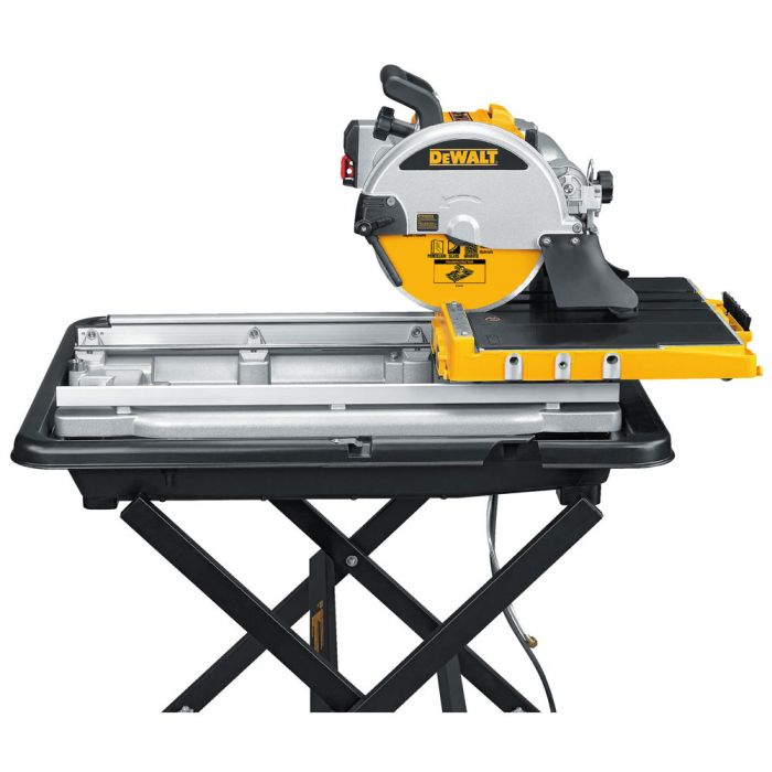10 wet tile saw with stand construction fasteners and tools