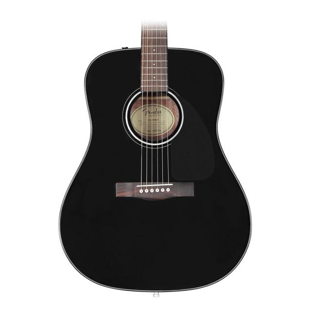 Black Fender Cd 60 Acoustic Guitar