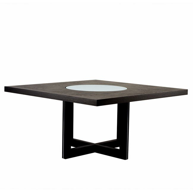 60 inch square dining table w lazy susan