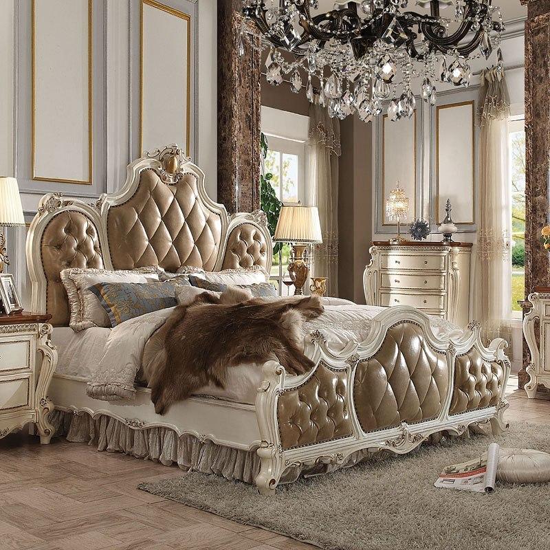 picardy panel bedroom set antique pearl cherry oak