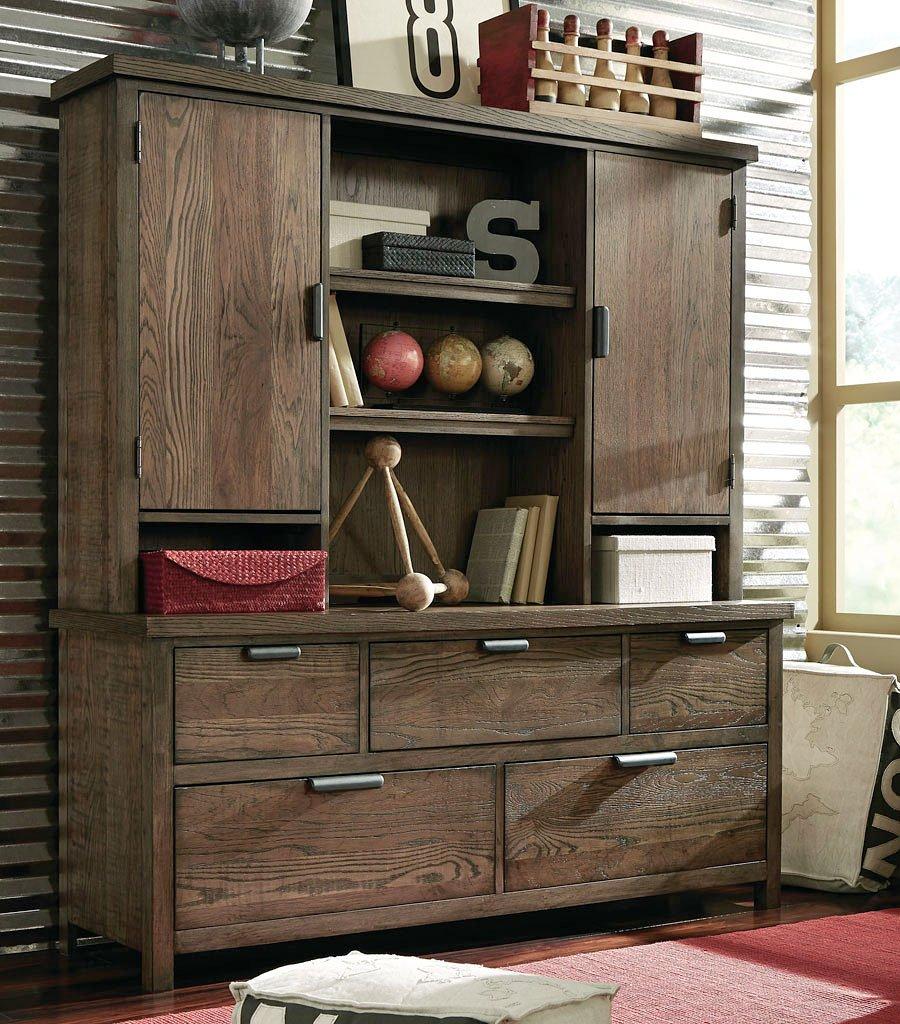 fulton county 5 drawer dresser w hutch