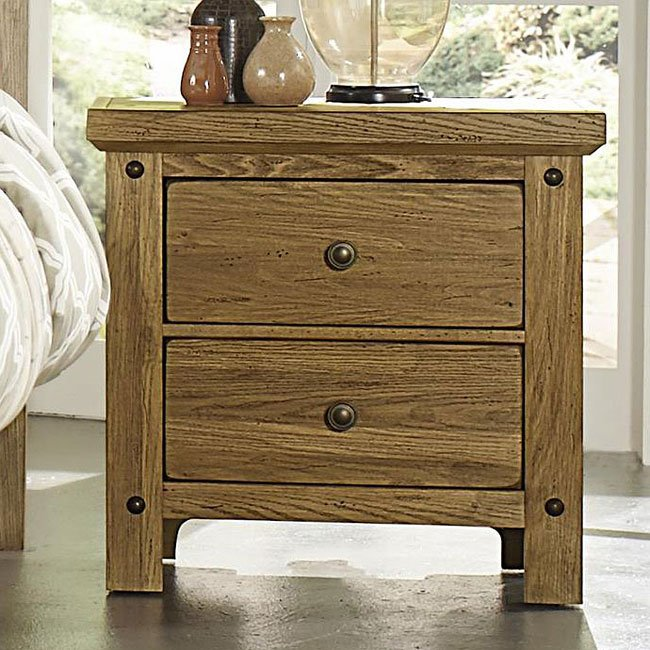 Collaboration Nightstand W Hidden Drawer Oak Vaughan