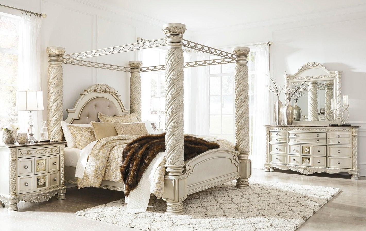cassimore canopy bedroom set