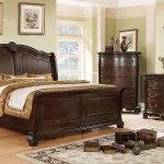 Isidora Sleigh Bedroom Set Brown Cherry Furniture Of America Furniture Cart