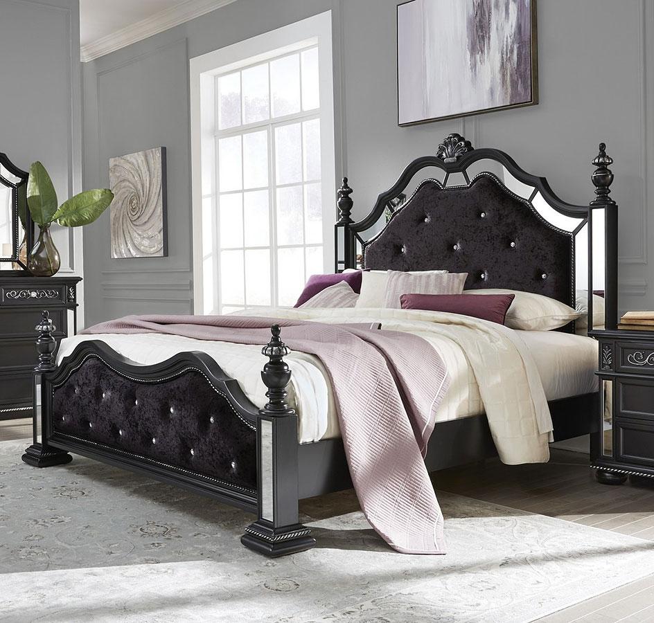 diana poster bedroom set black