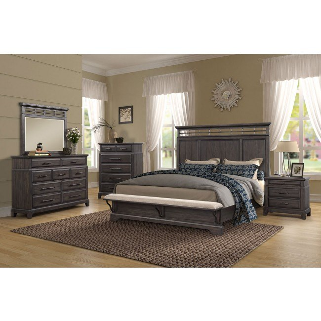 bellamy lane panel bedroom set w bench