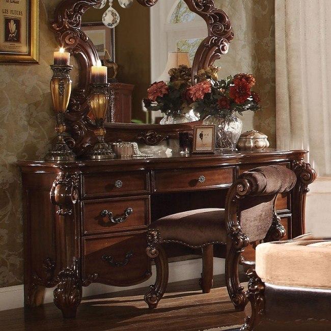 vendome vanity desk cherry
