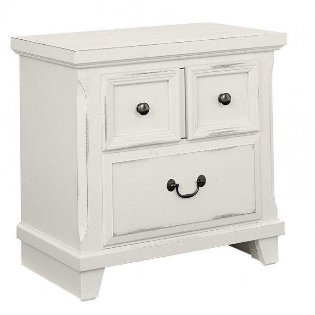 timber creek nightstand distressed white