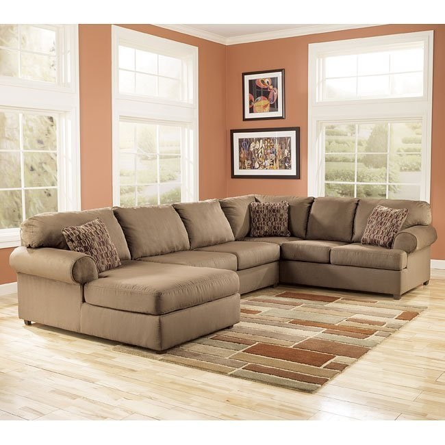 brody mocha left facing chaise sectional