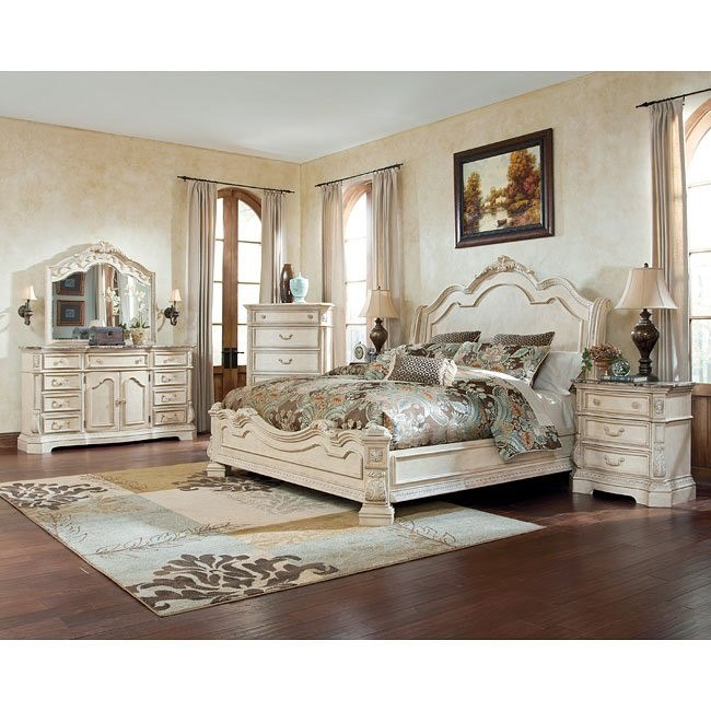 ortanique sleigh bedroom set