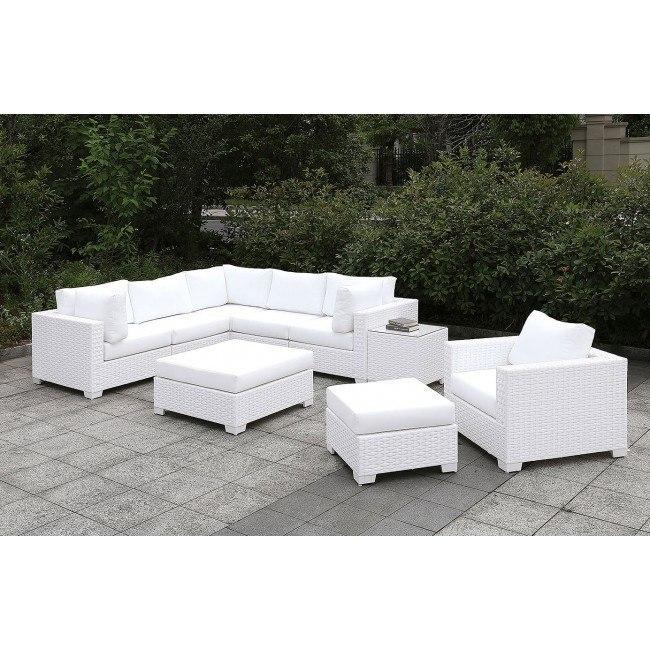 somani white outdoor l sectional set configuration 18
