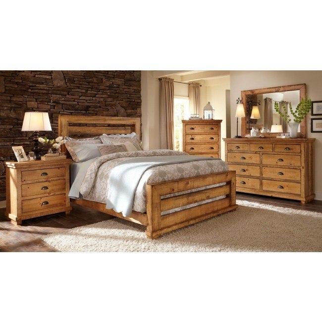 willow slat bedroom set distressed pine
