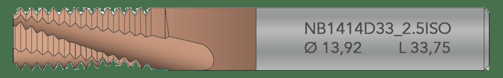 Illustration Lasermärkt gängfräs