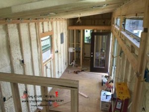 spray foam insulation in the living room