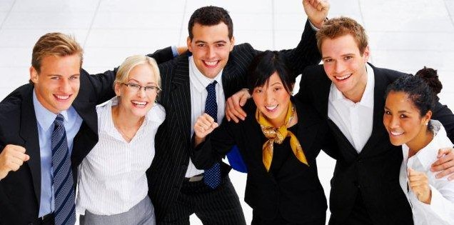 business group of successful business people
