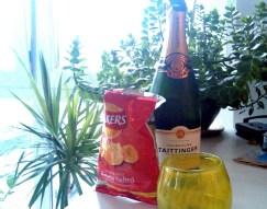 Champagne e patatine