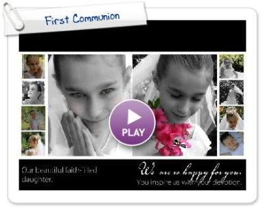 Click to play First Communion