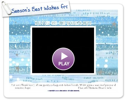 Click to play Season's Best Wishes from Dream Italia