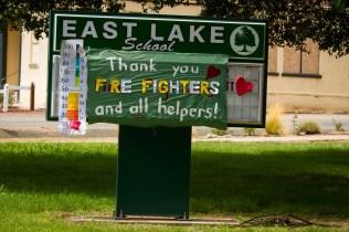 grateful school sign