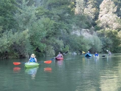 paddling together