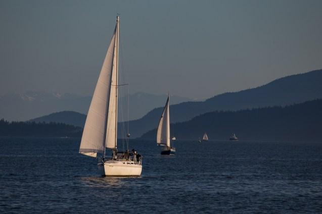sailing into Bellingham