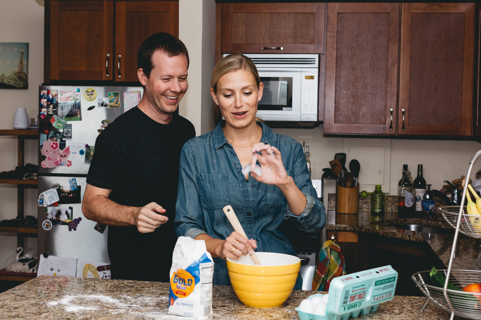 Jen and her Husband Baking