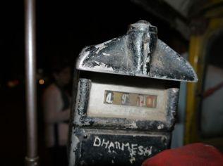 Der meter at the end of the day (we paid a fixed price though)/ Das Taxometer am Ende des Tages (wir zahlten trotzdem einen Festpreis)