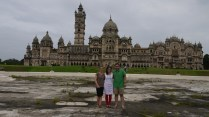 Me, Tara and Dawoud in front of Baroda Palace