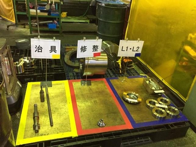 伊藤歯車 3S活動 工場 区画線