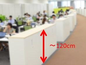工場オフィスの5S地震対策棚の間仕切り