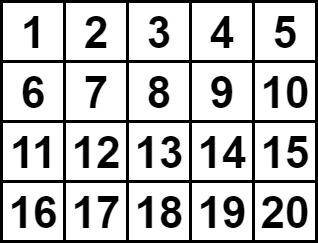整理整頓された英数字