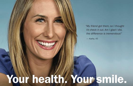 Female Orthodontic patient smiling