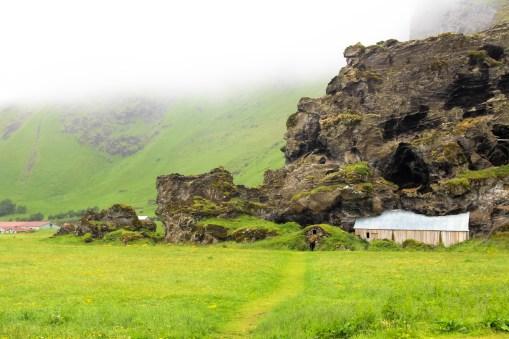 Icelandic Turf houses along the way