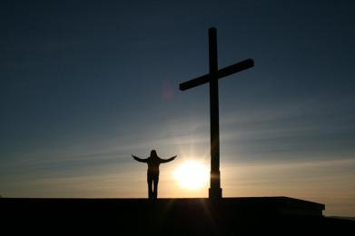 faith, man and cross