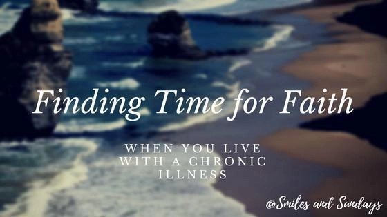Beach scene with finding time for faith script