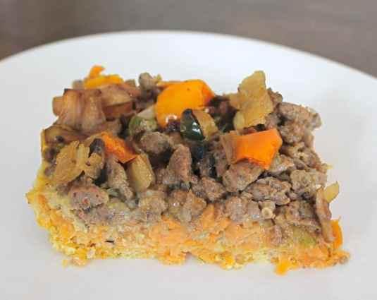 Paleo Sweet Potato Layered Breakfast Casserole