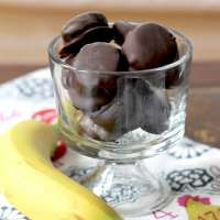 Dark Chocolate Peanut Butter Banana Bites