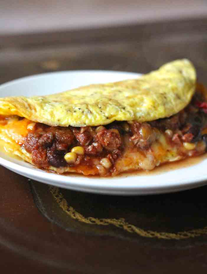 Chicken Chili Cheese Omelet