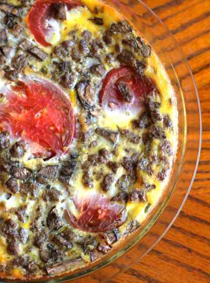 The Easiest Crustless Quiche