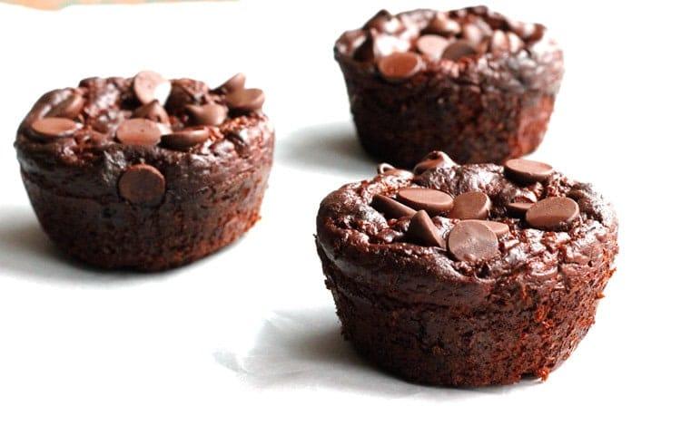 Flourless Double Chocolate Zucchini Muffins