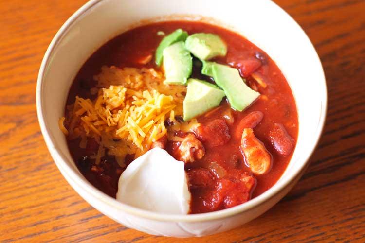 Crockpot Chicken and Black Bean Chili