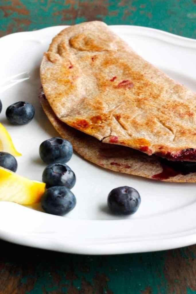 Lemon Blueberry Breakfast Quesadilla