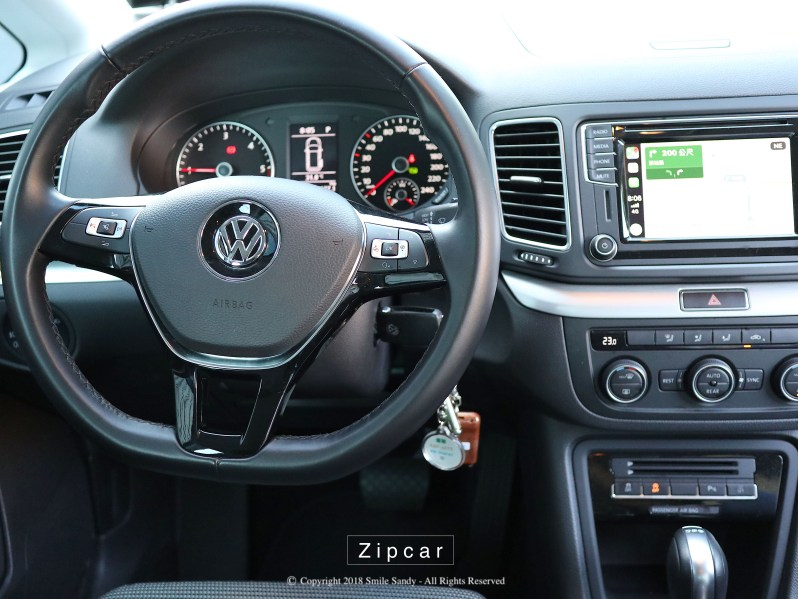 Zipcar Sharan 內裝