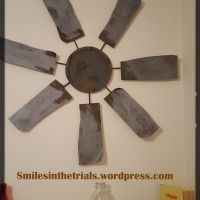 DIY $27 Rustic Windmill Wall Art