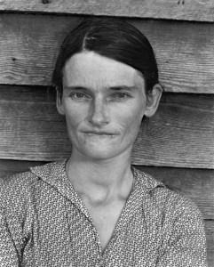 ウォーカー・エヴァンス『アラバマ州の小作人の妻』(1936)