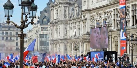 ワールドカップ2018 パリ市役所前のファン・ゾーン